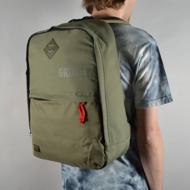 Grizzly Griptape Day Trail Backpack - Military Green