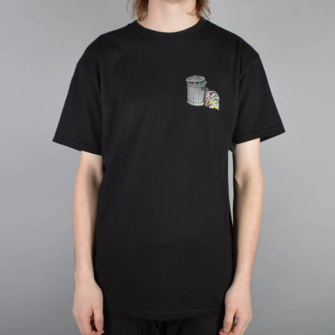 Dear Skating Garbage Cans Skate T-Shirt - Black