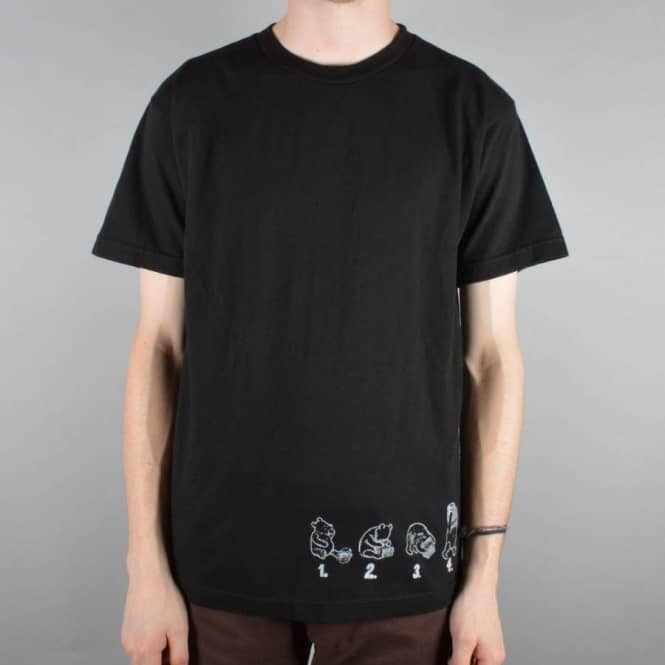 Dear Skating Rocco Pooh One Offs Skate T-Shirt - Black