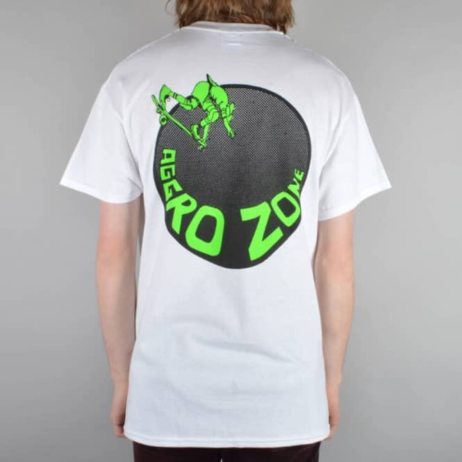Dear Skating Transworld Aggro Zone Skate T-Shirt - White