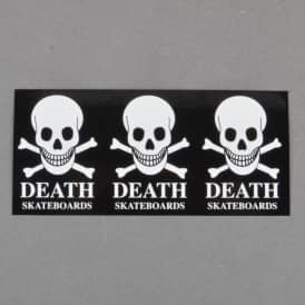 Death 3 Skull Skateboard Sticker