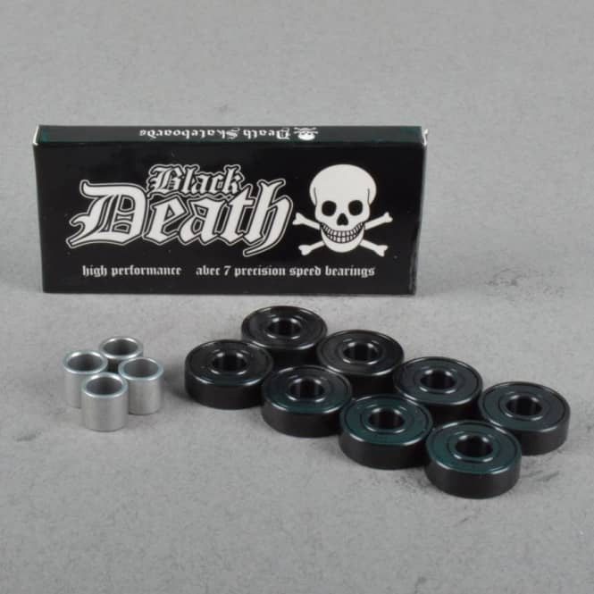 Death Skateboards Death Black Death Abec 7 Skateboard Bearings