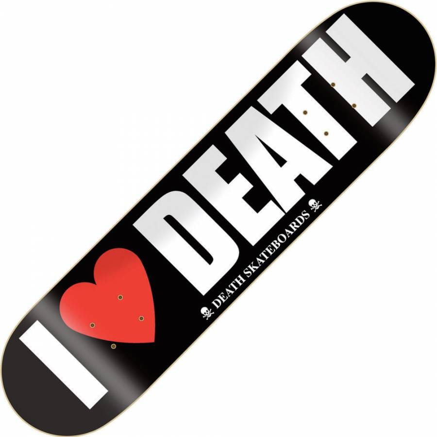 """I love Death Death Skateboards 7.75 /"""" with grip /& free shipping"""