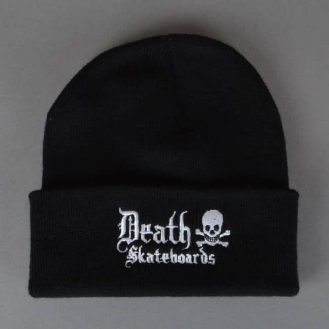 Death Skateboards Death Rollup Beanie Black