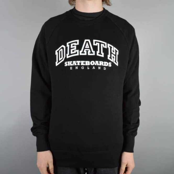 Death Skateboards College Crewneck Sweater - Black