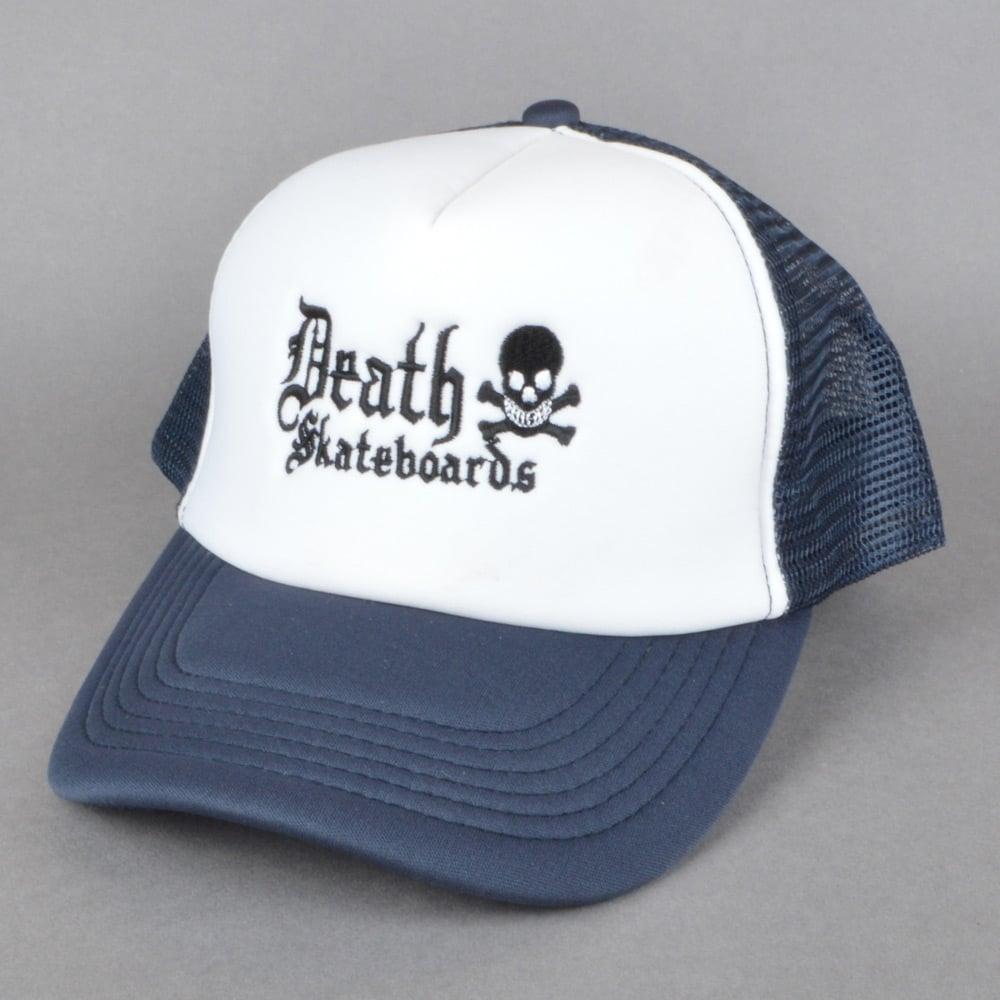 Death Skateboards Death Mesh Trucker Cap - Navy White - SKATE ... 7eca46e816b