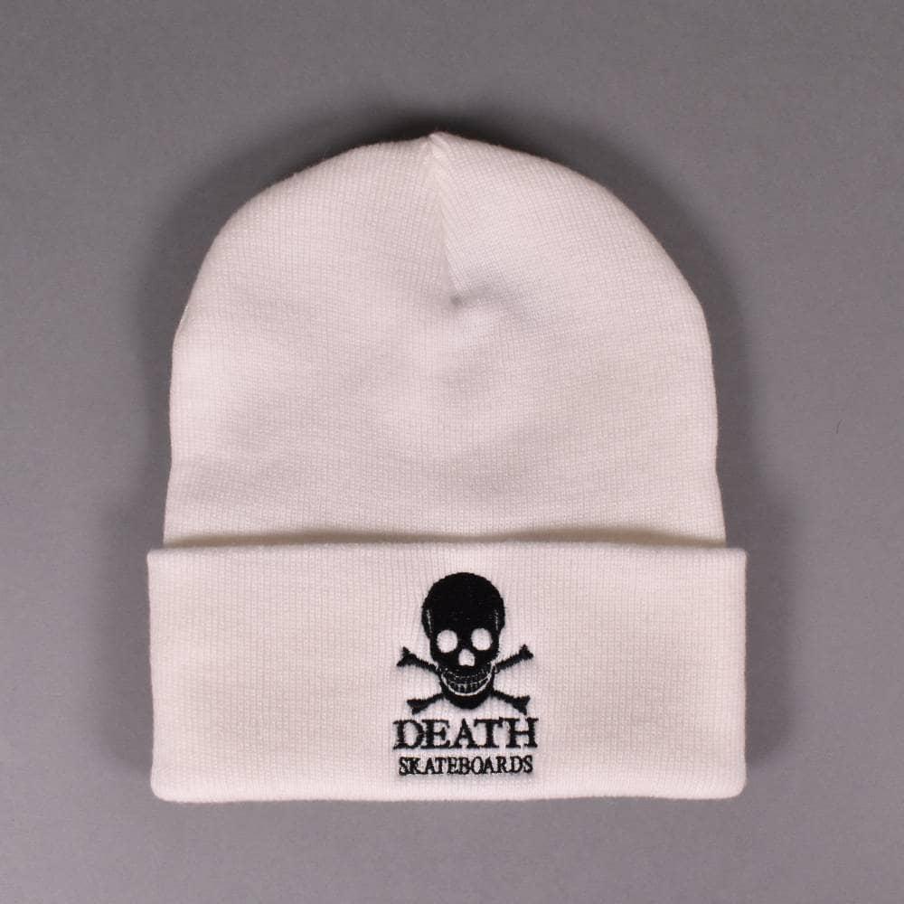 d8dda7b89d3 Death Skateboards OG Skull Beanie - White - SKATE CLOTHING from ...