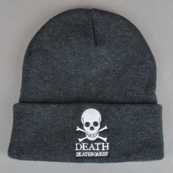 Death Skateboards OG Skull Skate Beanie - Charcoal