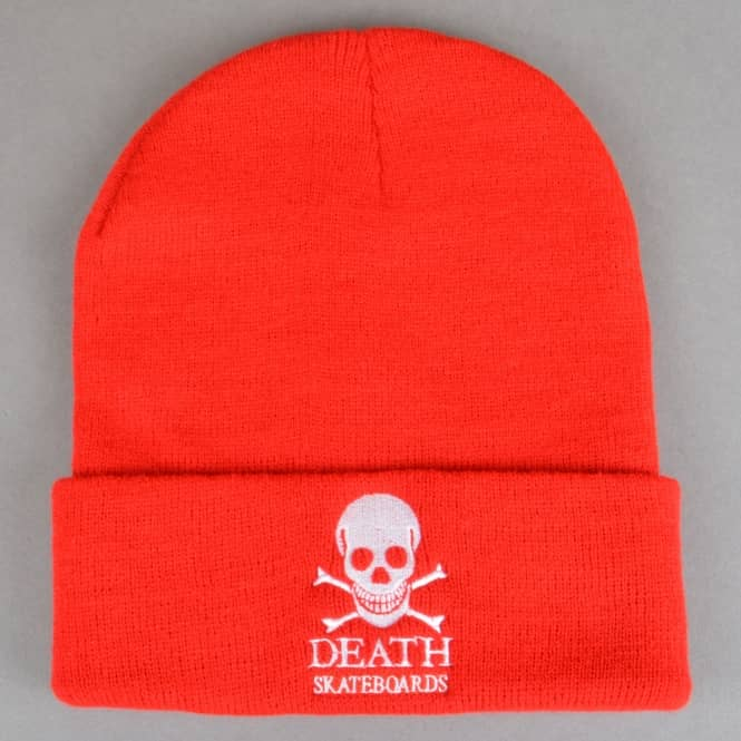 Death Skateboards OG Skull Skate Beanie - Red