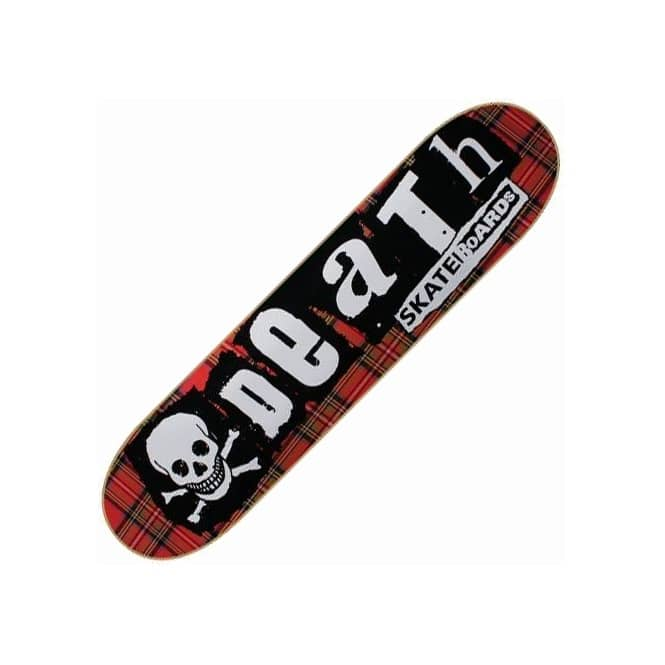Death Skateboards Tartan Punk Skateboard Deck 8.0