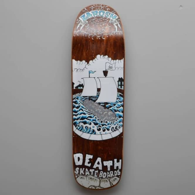 Death Skateboards Zarosh Pirate Curb Custom Skateboard Deck 9.0''