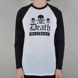 Death Urethane 3/4 Sleeve Raglan Tee - White/Black
