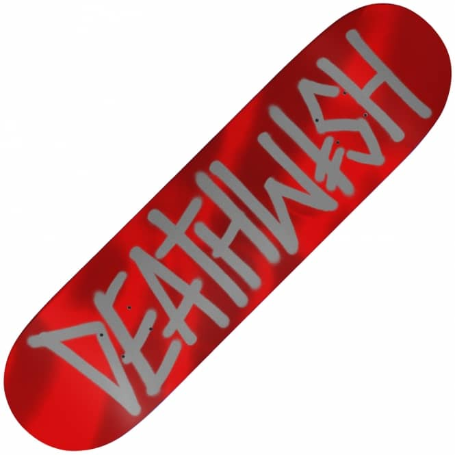 Deathwish Skateboards Deathspray Red Metallic Skateboard Deck 8.125
