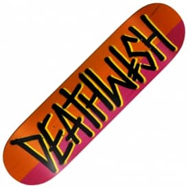 Deathwish Skateboards Deathspray Split (Orange/Red) Skateboard Deck 7.75""