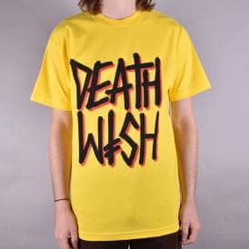 Deathstack Skate T-Shirt - Yellow
