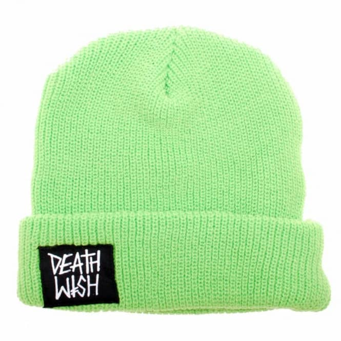 4c827a9039179 Deathwish Skateboards Deathwish Beanie Lime Green - Beanies from ...