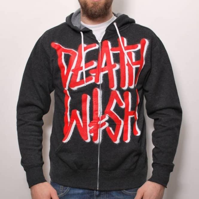 Deathwish Skateboards Deathwish Death Stack Zip Hood Charcoal Heather