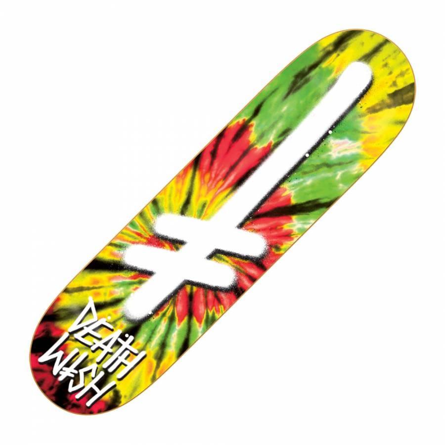 deathwish skateboards deathwish gang logo tie dye rasta