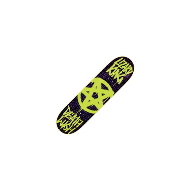 c005df82d Deathwish Skateboards Deathwish Lizard King Pentagram Glow Deck 8.125