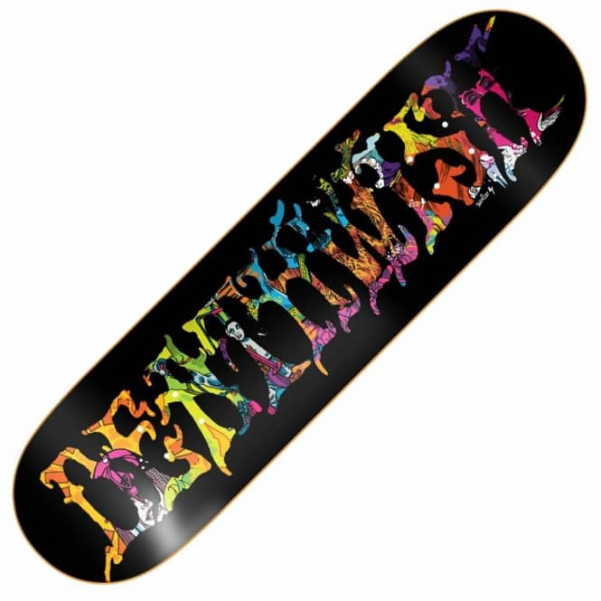 Deathwish Skateboards Blacklight Team Skateboard Deck 8.5''