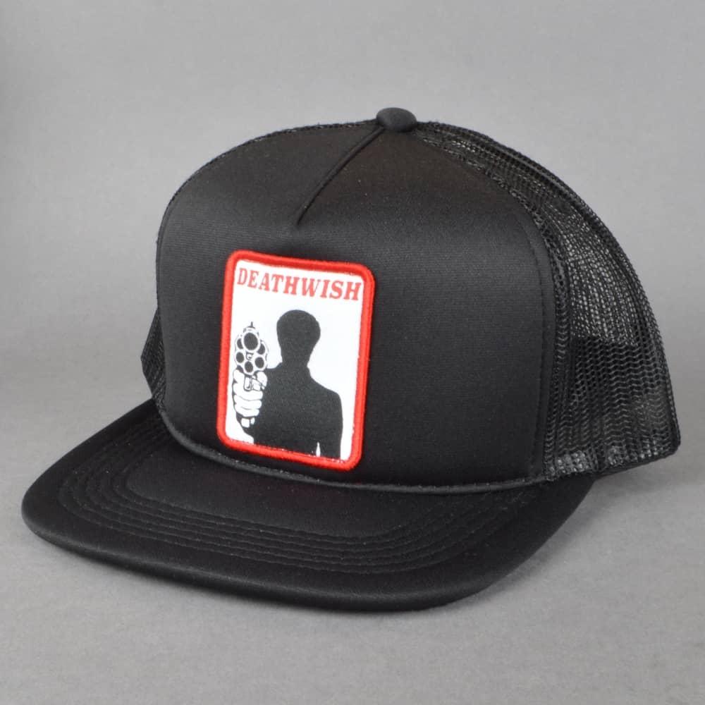 Deathwish Skateboards Bronson Trucker Cap - Black - SKATE CLOTHING ... 70394e80382