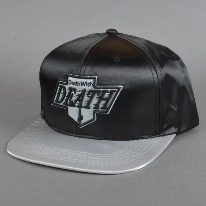 Deathwish Skateboards Death King Snapback Cap - Black/Satin