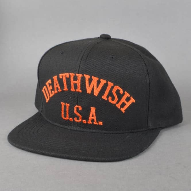 Deathwish Skateboards Death Sports Snapback Cap - Black