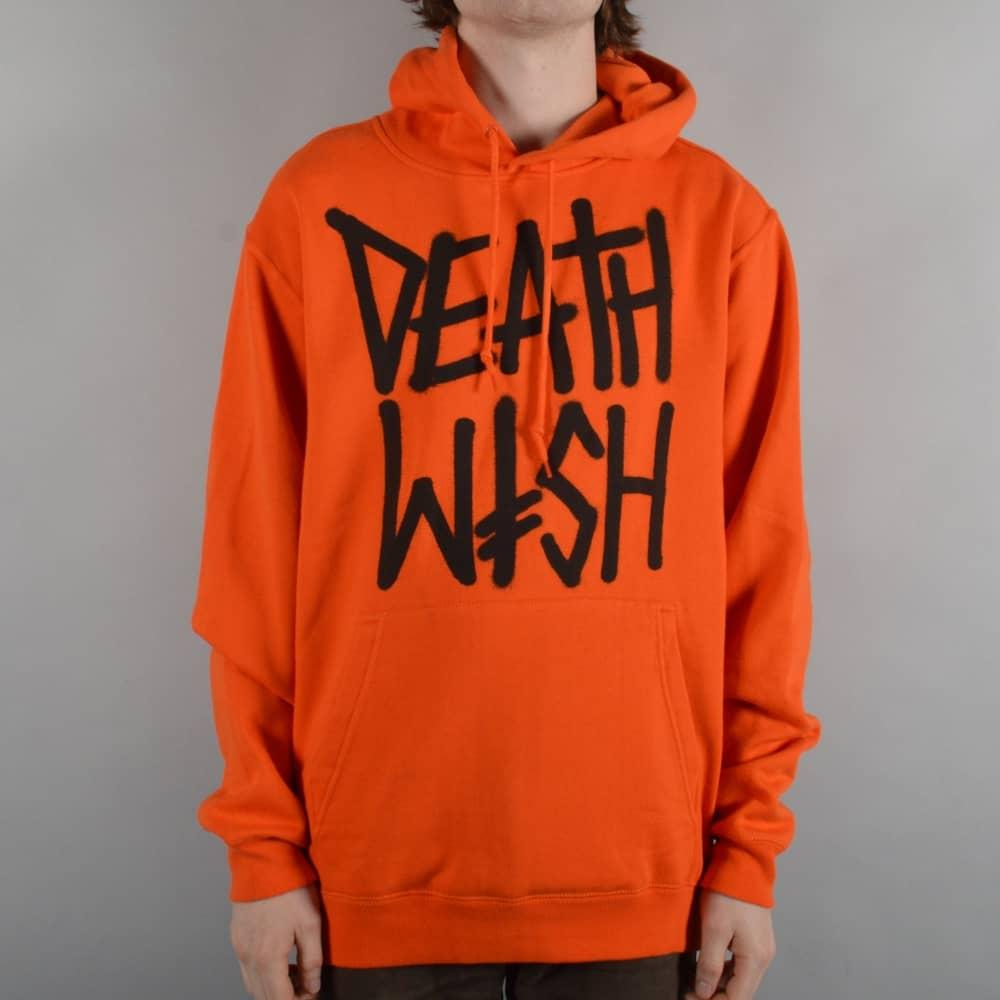 Deathwish Skateboards Death Stack Pullover Hoodie - Orange/Black ...