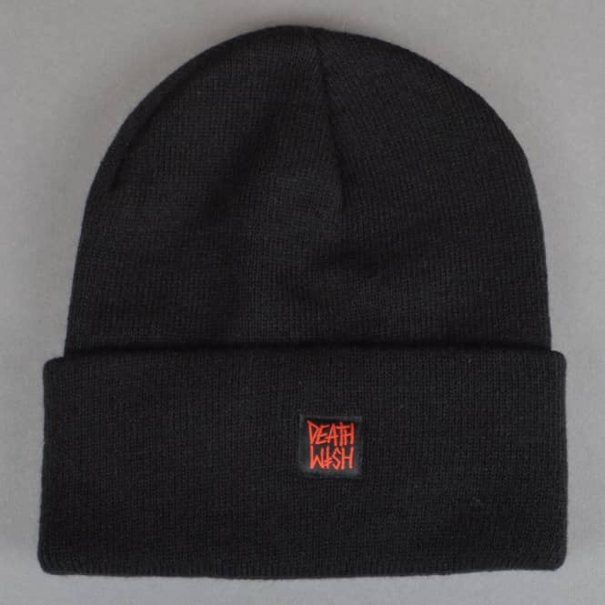 Deathwish Skateboards Death Stack Skate Beanie - Black