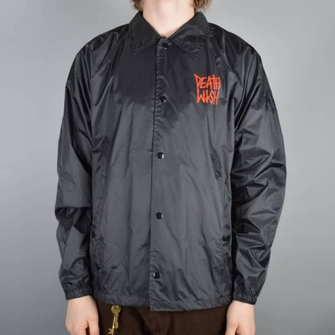 Deathwish Skateboards Death Stack Windbreaker Jacket - Black