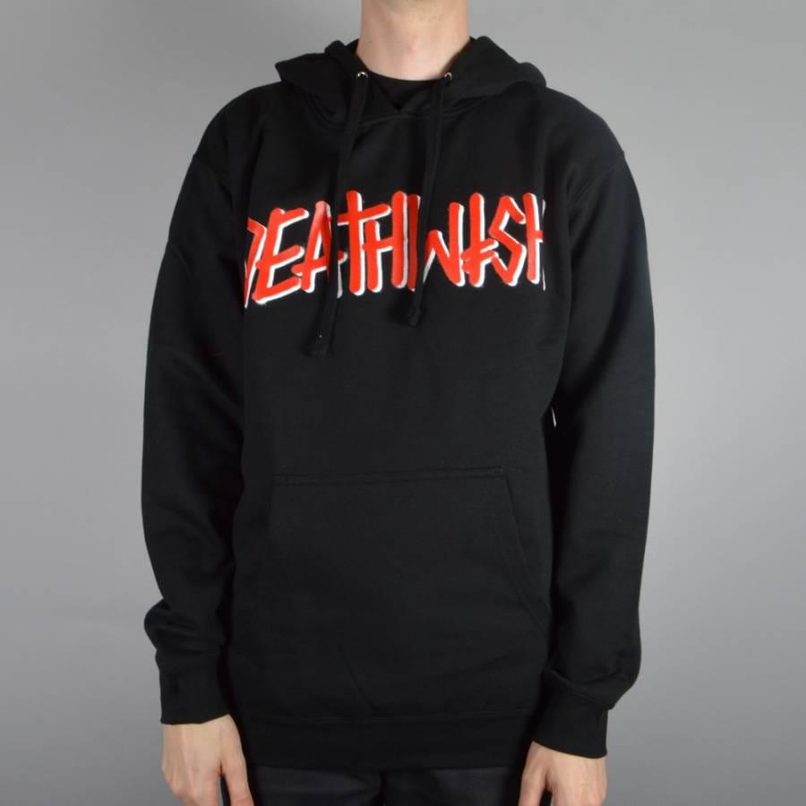Deathwish Skateboards Deathspray Pullover Hoodie - Black/Red