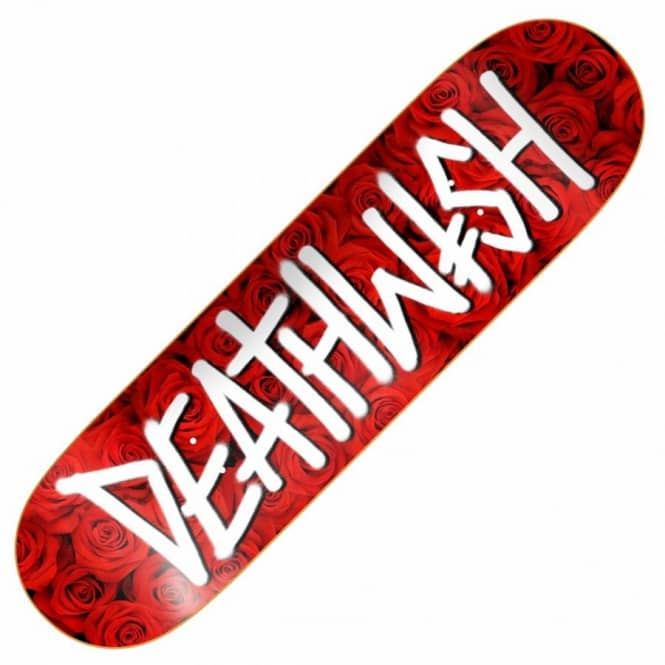 Deathwish Skateboards Deathspray Red Roses Skateboard Deck 8.38''