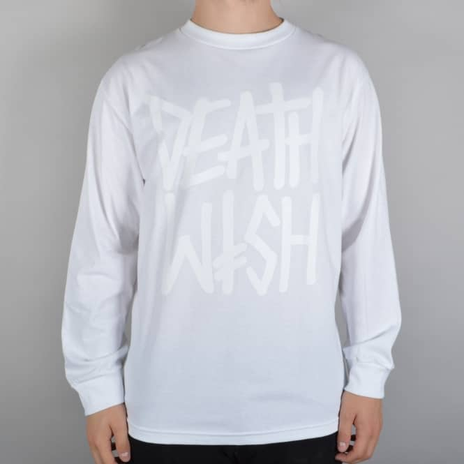 Deathwish Skateboards Deathstack Longsleeve T-Shirt - White