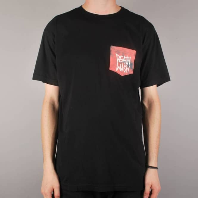 Deathwish Skateboards Deathstack Pocket T-Shirt - Black/Crystal