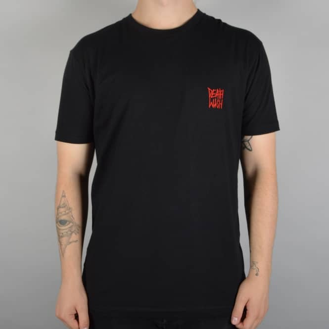 Deathwish Skateboards Deathstack Skate T-Shirt - Black/Red