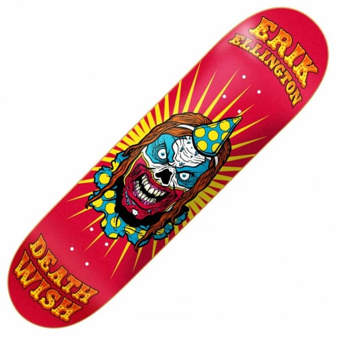 Deathwish Skateboards Deathwish Erik Ellington Clowns Skateboard Deck 8.25''