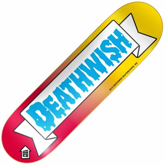 Deathwish Skateboards Deathwish Low Life Kids Team Skateboard Deck 8.5