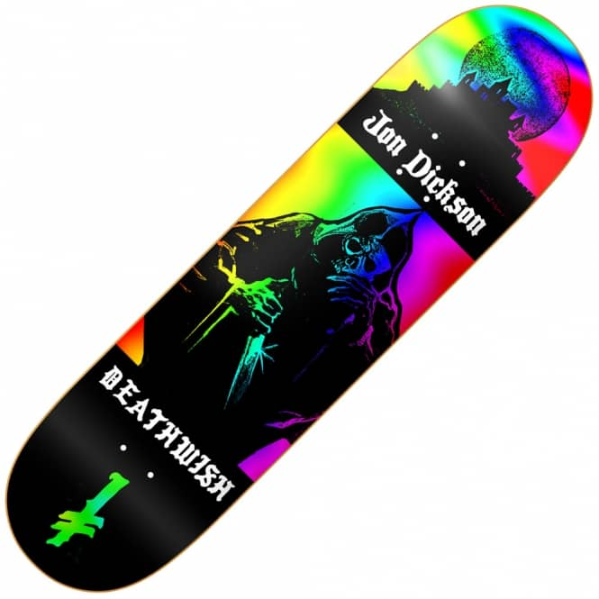 Deathwish Skateboards Dickson Colors Of Death Skateboard Deck 8.125