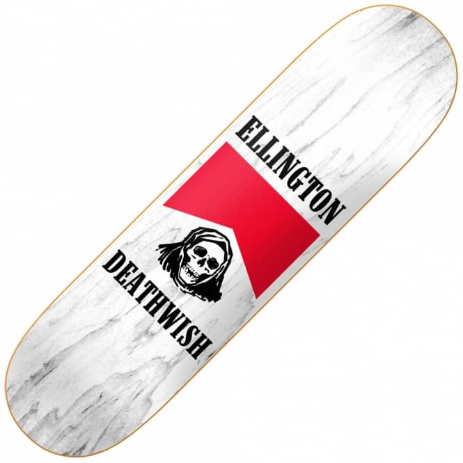 Deathwish Skateboards EE Flavor Country White Skateboard Deck 8.125