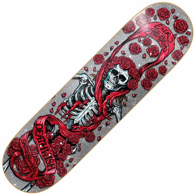 Deathwish Skateboards Ellington Grateful Shred Skateboard Deck 8.25