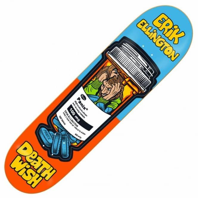 DEATHWISH Skateboards Sticker BLUE ERIK ELLINGTON Ruins skate helmets decal
