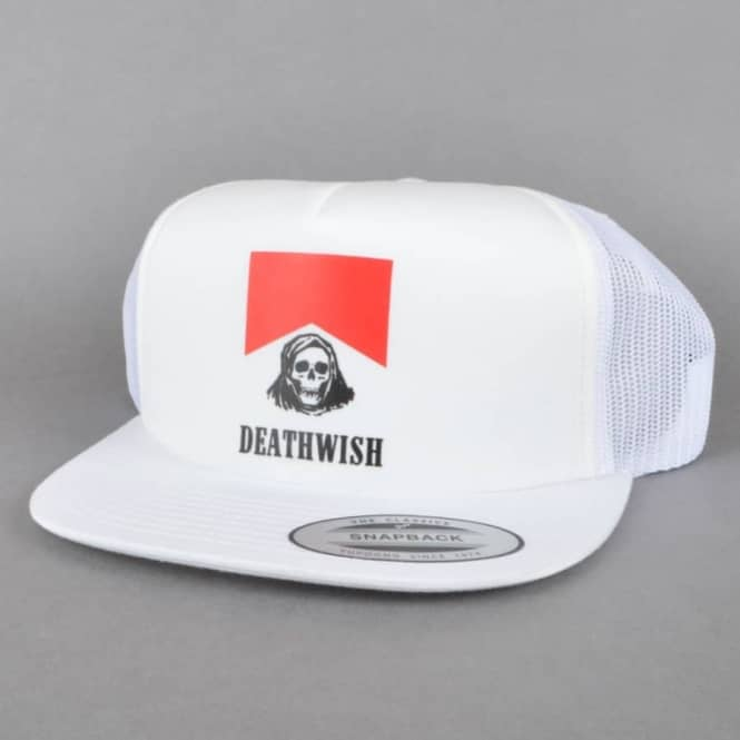 Deathwish Skateboards Flavour Country Trucker Hat - White