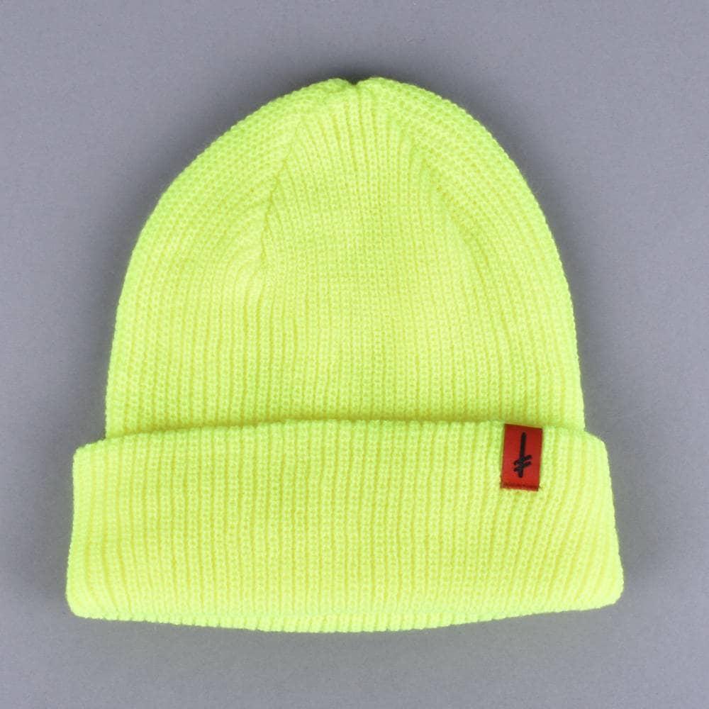 e31cacf66738f Deathwish Skateboards Gang Logo Beanie - Neon Green - SKATE CLOTHING ...