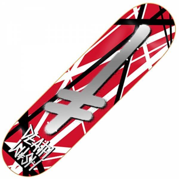 deathwish skateboards gang logo guitarded skateboard deck