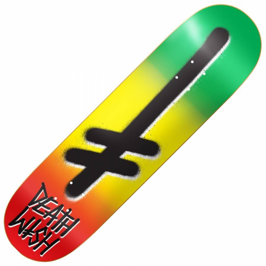deathwish skateboards gang logo rasta skateboard deck 7