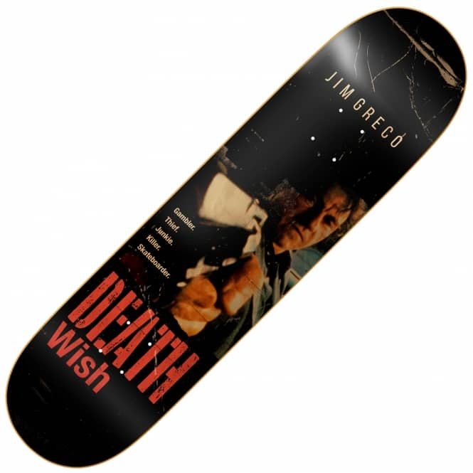 Deathwish Skateboards Jim Greco VHS Wasteland Skateboard Deck 8.38