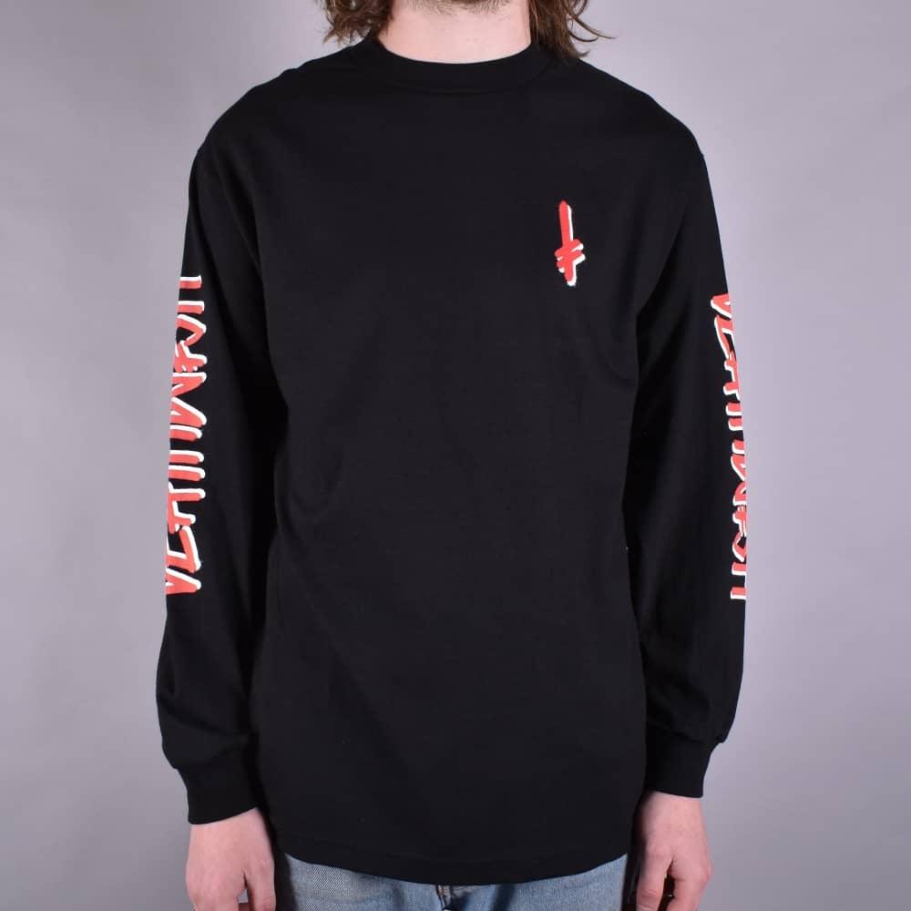 Deathwish Skateboards Landmark Longsleeve T-Shirt - Black Red ... 9c577ee25