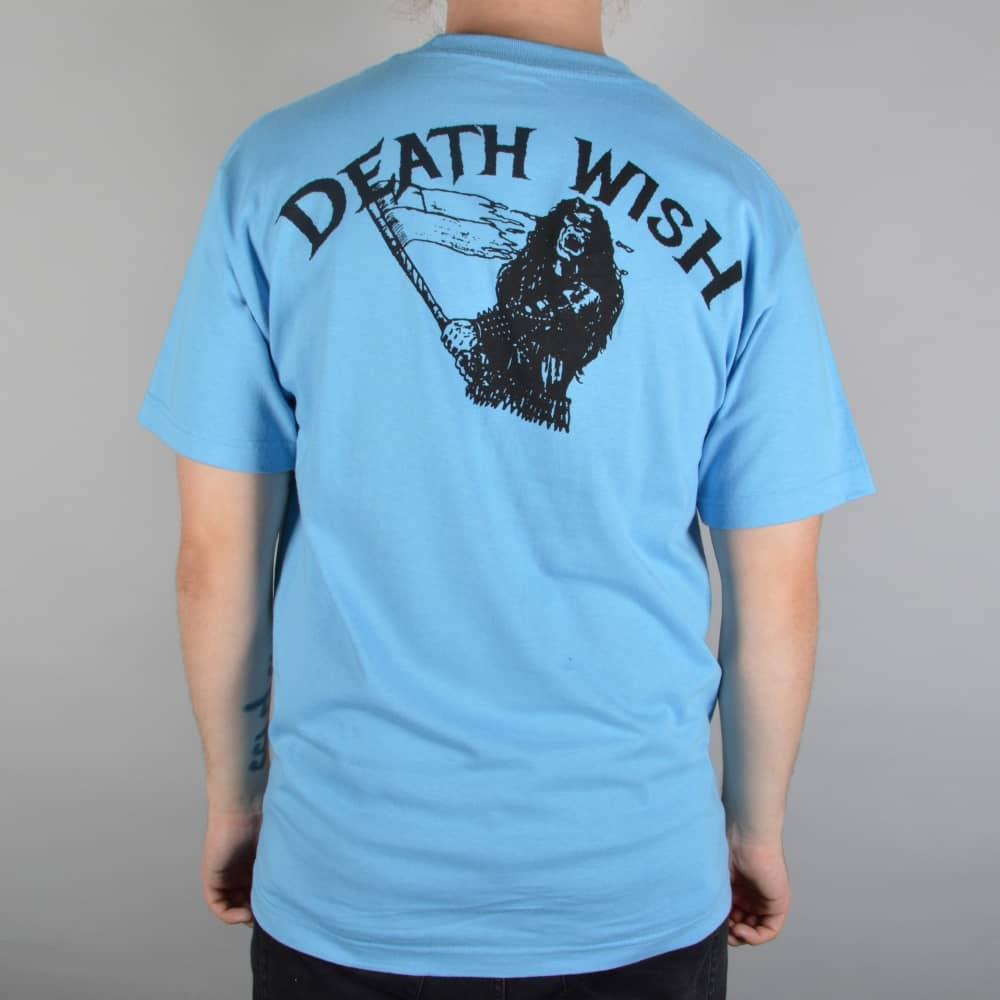 Deathwish Skateboards Metal Uprising Skate T-Shirt - Blue - SKATE ... c2b66593a