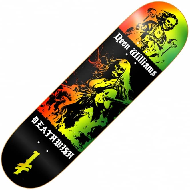 Deathwish Skateboards Neen Colors Of Death Skateboard Deck 8.0