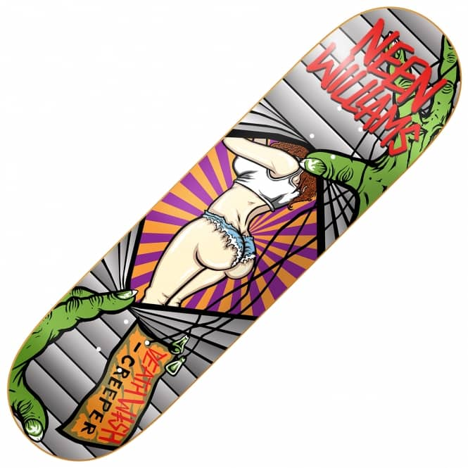 Deathwish Skateboards Neen Williams Creeper Skateboard Deck 8.5
